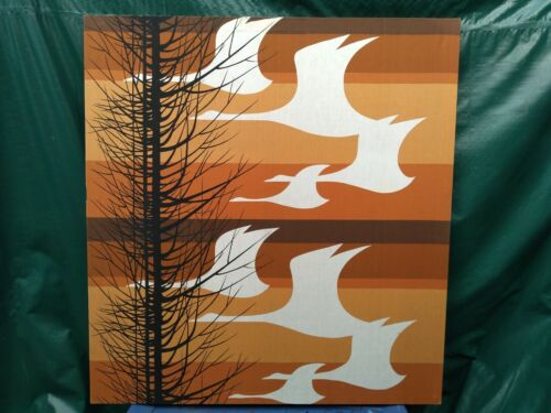 "Mid Century Textile Goose Print Art  Print Only NO FRAME 44.5"" x 48"""