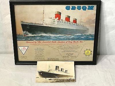 1967 GB5QM Last Voyage of the Queen Mary Original QSL Card Ham Radio Cunard Line