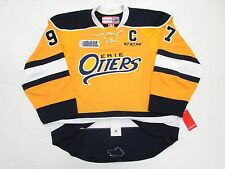CONNOR McDAVID ERIE OTTERS OHL AUTHENTIC YELLOW CCM EDGE 2.0 7287 HOCKEY JERSEY
