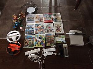 Wii console plus games and accessories