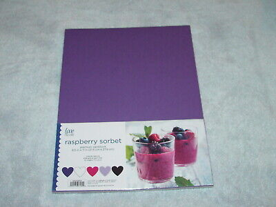LOVE NICOLE RASPBERRY SORBET COLORS CARDSTOCK PAPER - 5 COLORS/50 SHEETS -