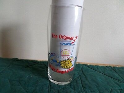 "Vintage McDonalds glass- ""The Original shake, burger, and fries"""