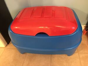 Red and Blue Toy Box