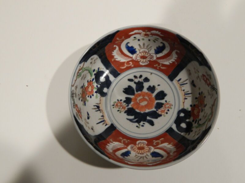 Antique Japanese multicolor imari bowl