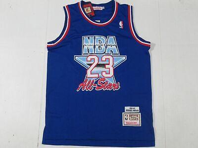 New Michael Jordan #23 Chicago Bulls 1993 NBA ALL-STAR GAME M&N Jersey Blue