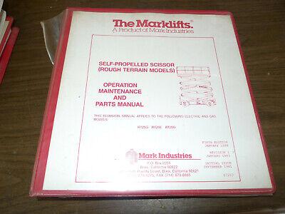 Marklift Scissor Lift Operation. Maint. Parts Manual Rough Terrain Models