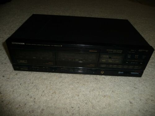 Pioneer CT-1280WR Stereo Double Cassette Tape Deck  Recorder/ Player Dolby B, C