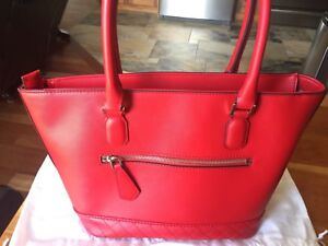 Brand new bright red Guess purse