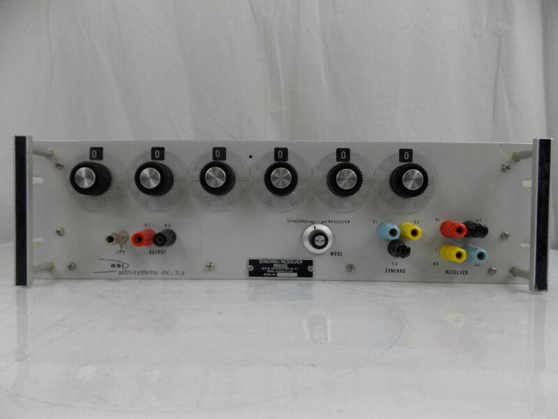 ASI ASTROSYSTEMS SYNCHRO RESOLVER BRIDGE AI205R / S - 001 CALIBRATOR STANDARD