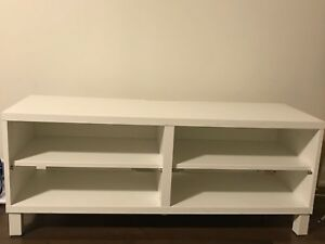 White wooden 3-layer tv stand( IKEA)