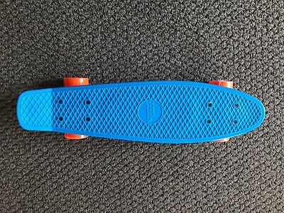 Penny Board No Fear Cruiser Skateboard Blue and Orange