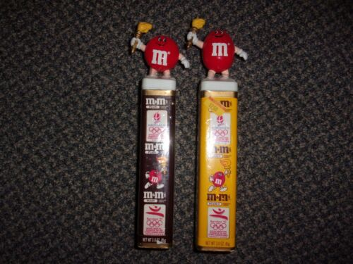 M&M -2 1992 OLYMPIC RED TORCH EURO SQUARE TOPPERS NEW SEALED  --   FREE SHIP