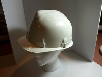 Rare Vintage Cesco Omnicap Hard Hat White Plastic Kansas City Mo Very Nice