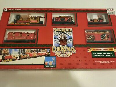 Northpole Christmas Express Battery Operated Train Set Animated