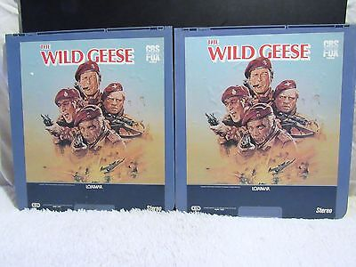 Ced Videodisc The Wild Geese  1978  Cbs Fox Video  Lorimar Films  Part 1 And 2