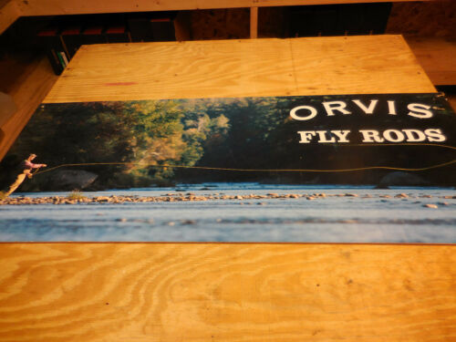 ORVIS FLY FISHING POSTER BOAD RETAIL SIGNS