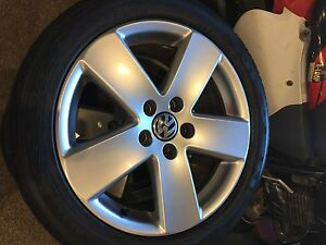 """17"""" vw rims and tires"""