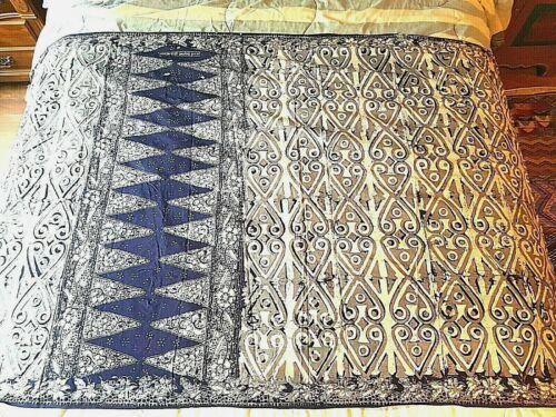 Purple Batik Fabric Sarong Large