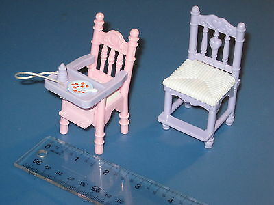 Loving Family Sweet Sounds dollhouse kitchen counter chair and baby highchair