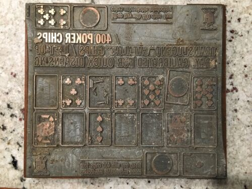 Letterpress Antique Printers Block
