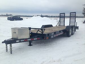 2015 20 foot low deck trailer, 14000lbs