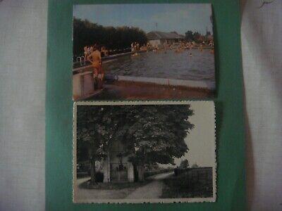 Lot de 2 cartes de MARIEMBOURG ( Couvin ) Bassin de natation / Calvaire espagnol