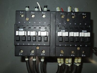 Abb 3p B50 B40 Mechanically Interlocked Contactors 110-120v Coil Used