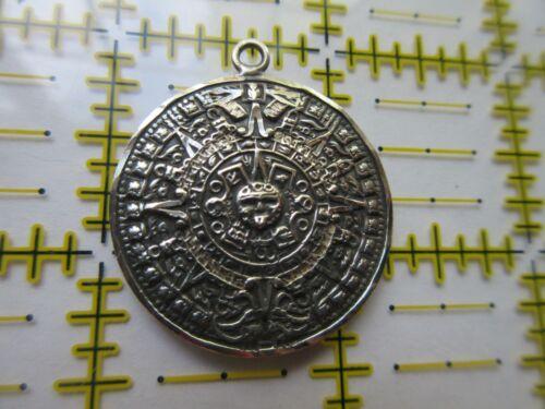 MAYAN CALENDAR PENDANT Sterling Silver 925 #52 inside Bell Shape Mexico