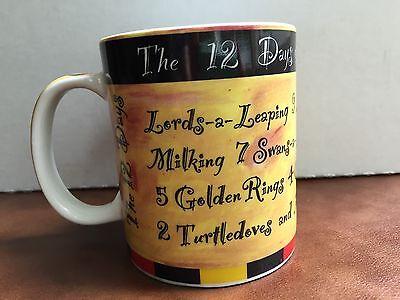 STARBUCKS Coffee 12 OZ 12 Days Of Christmas Yellow Tea Cocoa Mug Cup Holiday S1 for sale  Bothell