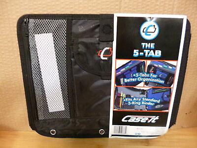 Case-it 5-tab Expanding File Insert Black