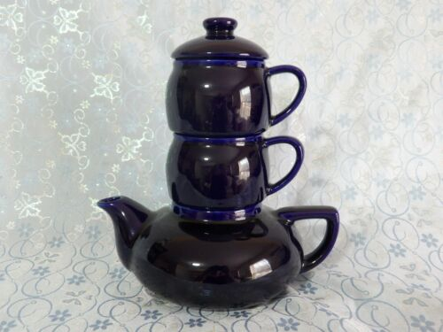 Stackable Tea for Two Set - Dark Blue
