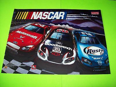 Stern NASCAR Rusty Wallace ORIGINAL NOS Pinball Machine Translite Art RARE 2005