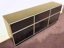 IKEA BESTA CABINET W/ GLASS DOORS, DRAWERS & TOP BLACK 180CM WIDE Wollstonecraft North Sydney Area Preview
