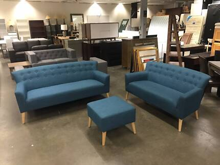 RETRO - 3+2 SEAT WITH OTTOMAN, BRAND NEW, 50% OFF RRP