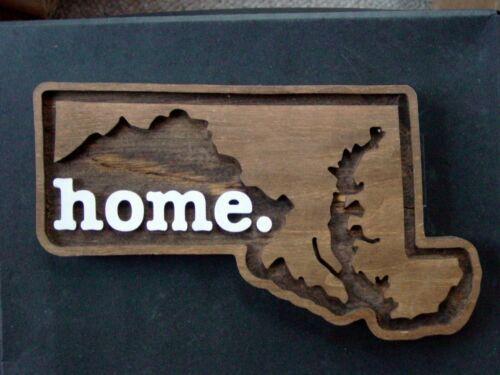 Maryland wood plaque