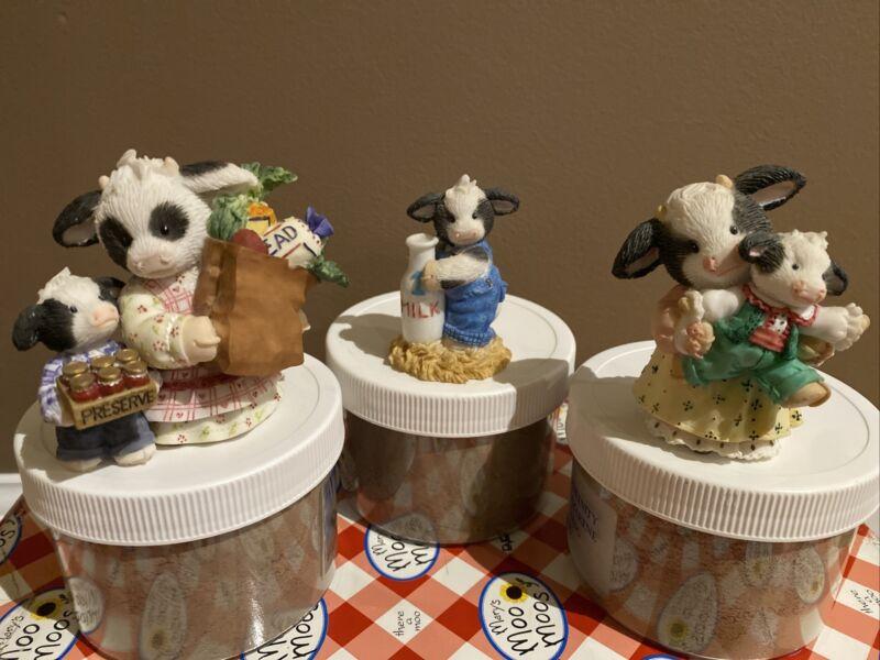 Mary Moo Moos LOT OF 3 Figurines