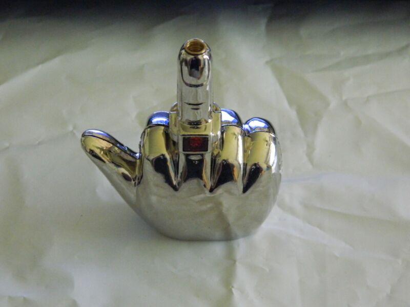 Chrome Talking Middle Finger Butane Jet Torch Lighter Saying F*** You USA Stock
