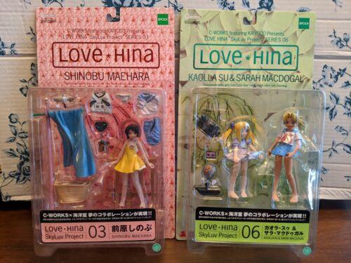 Kaiyodo Epoch Love Hina SkyLuv Project Shinobu Maehara/Kaolla Su & Sarah Figures