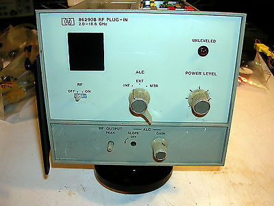 HP HEWLETT PACKARD 86290B  RF PLUG IN (.2.0-18.6 GHZ) OPT  004 LITE FACE Hewlett Packard Face