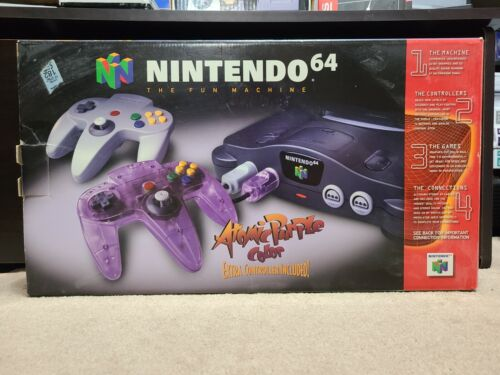 BOX ONLY Nintendo 64 n64 Atomic Purple Controller Bundle Edition - Free Shipping