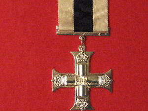 FULL SIZE MILITARY CROSS MEDAL MC EIIR MUSEUM COPY MEDAL WITH RIBBON.