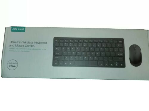 Jelly Comb Ultra-Thin  Wireless Keyboard And Mouse Combo Gol