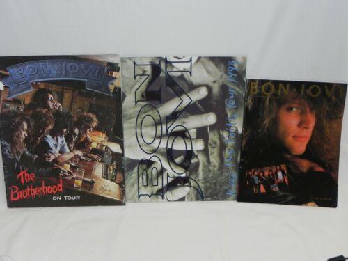 Lot 3 Vintage Bon Jovi Books The Brotherhood On Tour 1989 Keep Faith 1993 Bio
