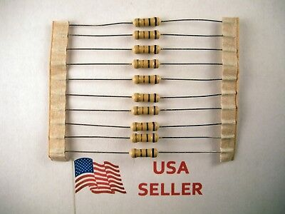 12w .5 Watt 5 Tolerance Carbon Film Resistor 10 Pieces Usa Seller