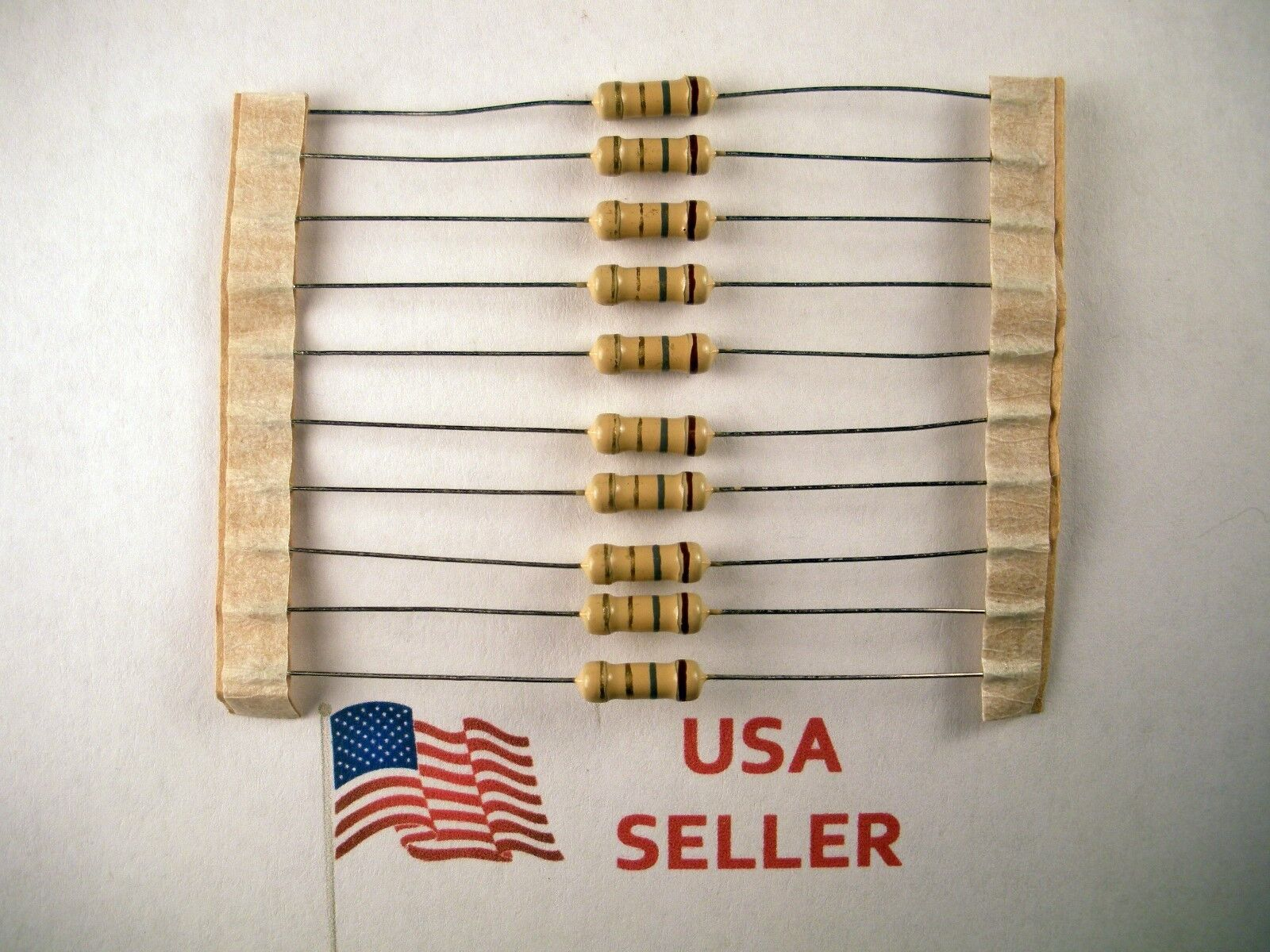 1/2W .5 Watt 5% Tolerance Carbon Film Resistor (10 Pieces) USA SELLER