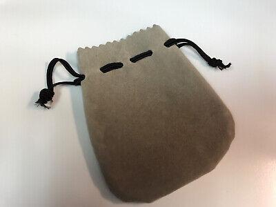 Velvet Jewelry Drawstring Pouch Gift Storage Sack - Gray Black