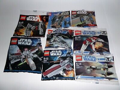 Lego Star Wars 8 polybags new sealed bundle TIE X-wing 3219 (Lot 1)