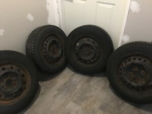 Goodyear Nordic Snow Tires and Rims $250 obo