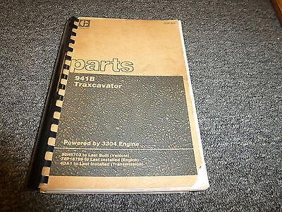Caterpillar Cat 941b Traxcavator W 3304 Engine Parts Catalog Manual Book