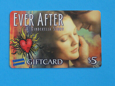 DREW BARRYMORE-  EVER AFTER - $5 BLOCKBUSTER VIDEO GIFT CARD -NO VALUE ON CARD -